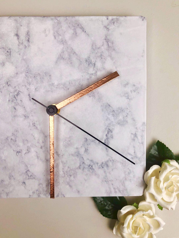DIY Marble & Rose Gold Clock